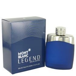 MontBlanc Legend by Mont Blanc Eau De Toilette Spray (Special Edition-Blue) 3.4