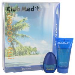 Club Med My Ocean by Coty Gift Set -- .33 oz Mini EDT Spray + 1.85 oz Hair & Bod