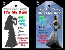 Wedding Gift Tags 7 to 12