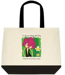 I'm Having A Happy Wife Day - Message Tote