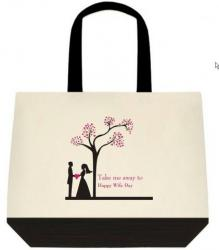 Take Me Away To Happy Wife Day - Message Tote
